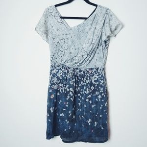 MM Couture by Miss Me Silk Floral Dress. Size L